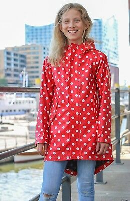 Hafencity Coat Kids - softskin rot/weiß