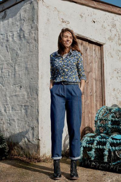 Larissa Shirt Torn Tulip Seawater