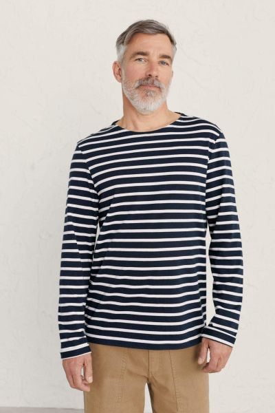 Men's Sailor Shirt Breton Inkwell Chalk