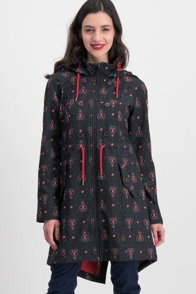 swallowtail promenade coat - red hood