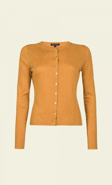 Cardi Roundneck Cocoon - Honey Yellow