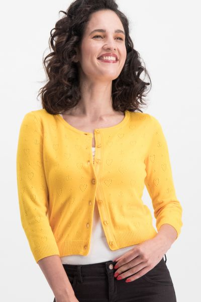 logo wonderwaist cardy - yellow hope heart