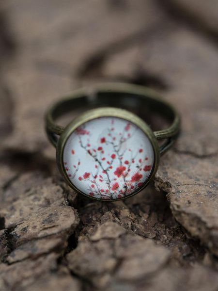 Ring bronze - Kirschblüten 65