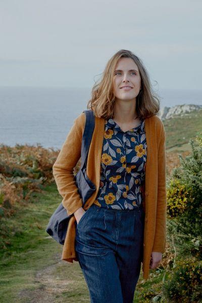 Larissa Shirt - Painted Flowers Waterline
