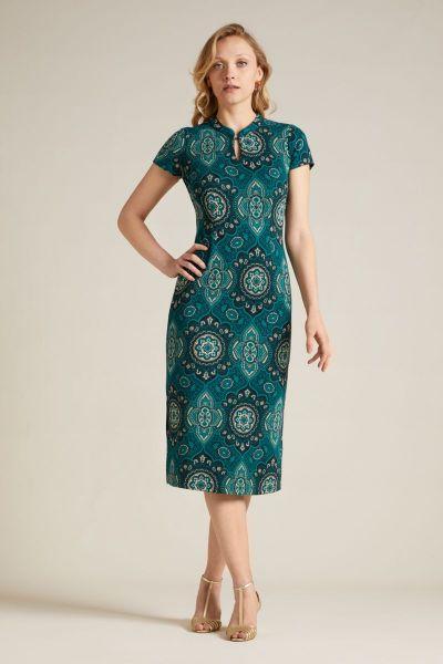 Chinese Midi Dress Regal - Dragonfly Green