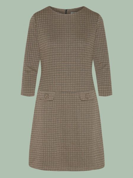 Nine To Five - Dress - Hip To Be Square Brown