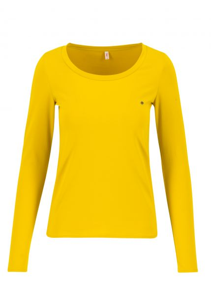 logo round neck langarm welle - just me in yellow