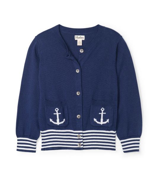 Nautical Navy Cardigan - Patriot Blue