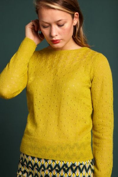 Yoke Top Fluffy - Cress Yellow