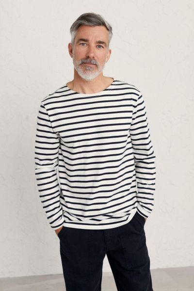 Men's Sailor Shirt Breton Chalk Inkwell
