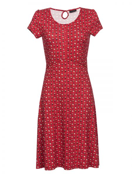 French Fleur Dress red allover