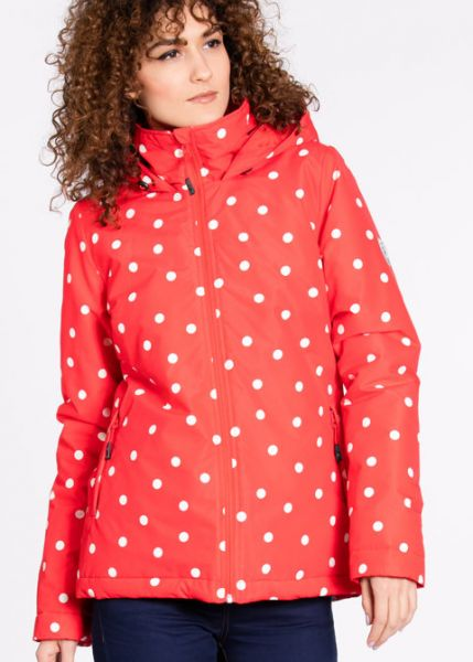 a hut in the wood anorak red riding hood
