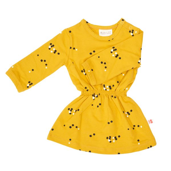 DRESS ANGEL DOTS MUSTARD