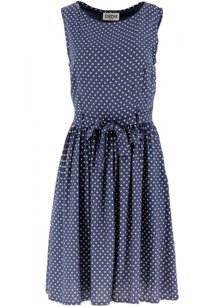 Kleid Polka2 - navy