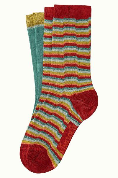 Socks 2-Pack Flatliner - True Red