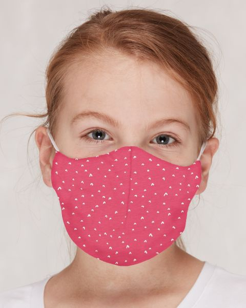 Mund- und Nasenmasken GOTS für Kinder / Erwachsene Herzen Azalea