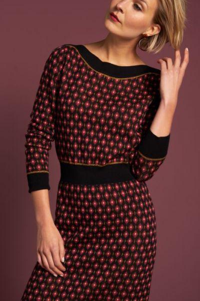 Audrey Dress Diamond - Black