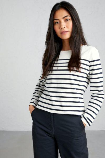 Sailor Shirt Falmouth Breton Chalk Midnight
