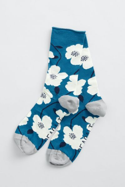 Women's Bamboo Arty Socks Wild Mallow Waterscape