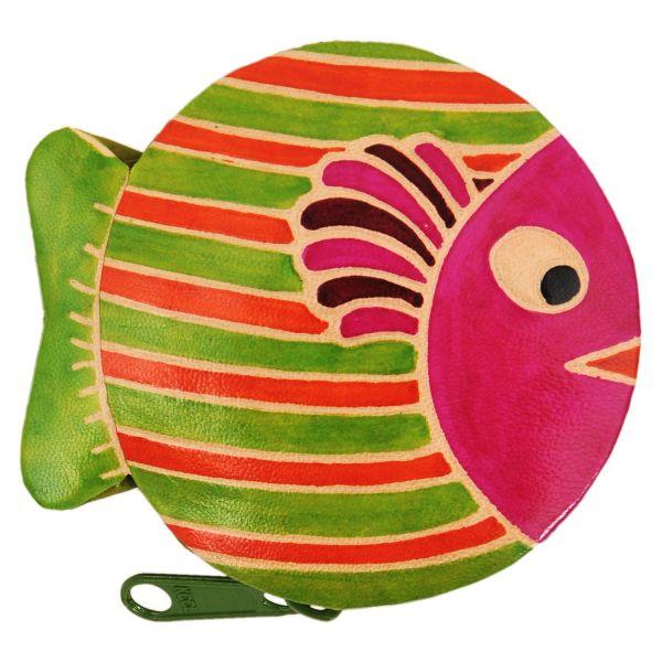 Ledergeldbörse Fisch