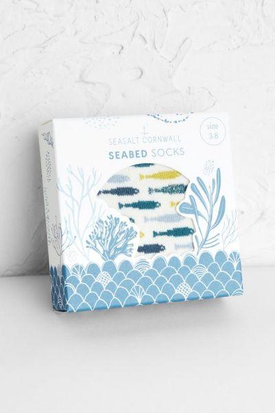 Seabed Socks - Fish Ecru