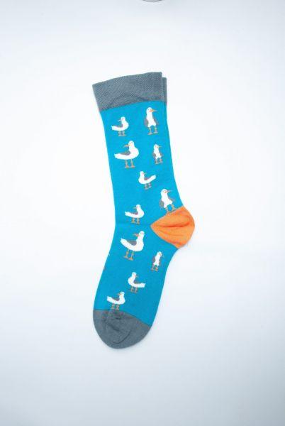 Socks Teal Seagull Easy Fit Men