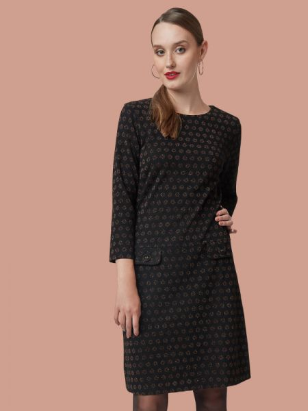 Nine To Five - Dress - Happiness Black/Brown